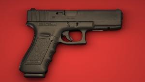 3d model of Glock 17 pistol 01