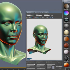 Lit Sphere in 3dsmax viewport directx mental ray screenshot-2