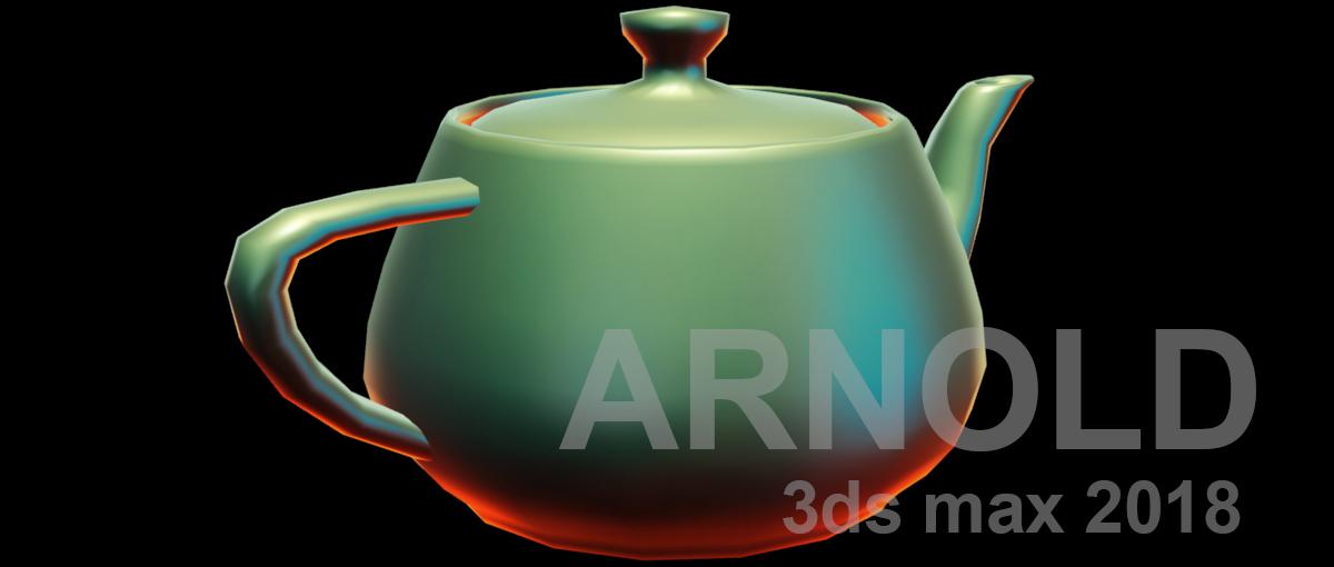 Lit sphere osl material arnold renderer teapot