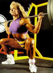Tonya Knight with a barbell