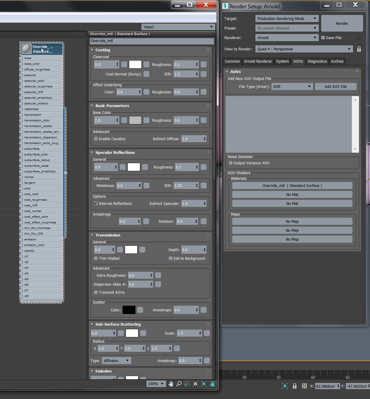 Override material for Arnold - veda3d com